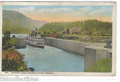 Cascade Locks-Columbia River,Oregon 1921 - Cakcollectibles