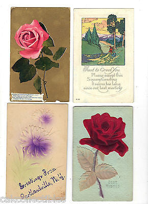 Lot of 4 Antique Greetings Post Cards-Lot 75 - Cakcollectibles - 1