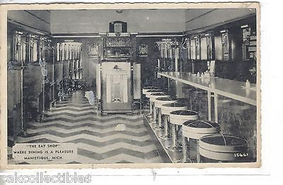 """The Eat Shop""-Manistique,Michigan (Interior View) - Cakcollectibles - 1"