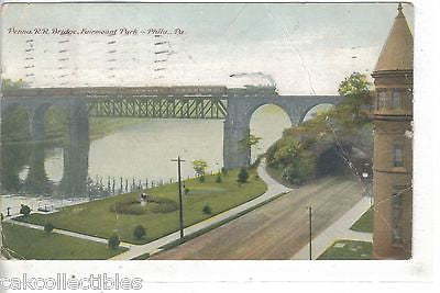 Penna. R.R. Bridge,Fairmount Park-Philadelphia,Pennsylvania 1912 - Cakcollectibles