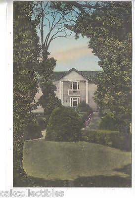 """Ash Lawn"",Within The Evergreen Garden-Charlottesville,Va (Hand Colored) - Cakcollectibles"