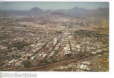 "Aerial View of Tucson,Arizona-Looking East tpward ""A"" Mountain - Cakcollectibles"