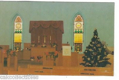 Interior at Christmas-Cuba United Methodist Church-Cuba,Illinois - Cakcollectibles - 1