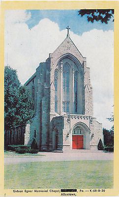 Gideon Egner Memorial Chapel, Allentown, Pa. Postcard - Cakcollectibles - 1
