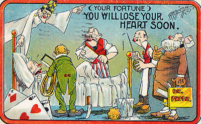 You Will Lose Your Heart Soon Comic Postcard - Cakcollectibles