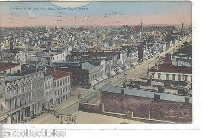 View of Pontiac,Michigan,Looking South from Court House 1909 - Cakcollectibles - 1