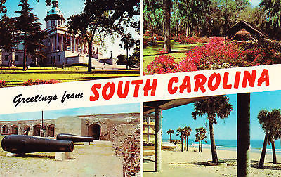 Greetings From South Carolina Postcard - Cakcollectibles