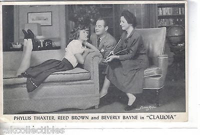 "Phyllis Thaxter,Reed Brown and Beverly Bayne in ""Claudia""-Cass Theatre-Detroit - Cakcollectibles"