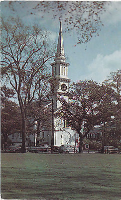 Congregational Church And Green Falmouth, Mass. Postcard - Cakcollectibles - 1