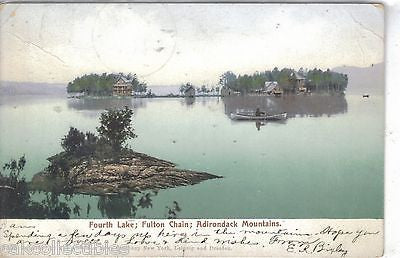 Fourth Lake,Fulton Chain-Adirondack Mountains-New York 1905 - Cakcollectibles