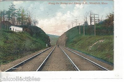 Along the Boston and Albany R.R.-Westfield,Massachusetts 1909 - Cakcollectibles