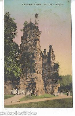 Cyclopean Towers-Mt. Solon,Virginia (Hand Colored) - Cakcollectibles