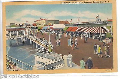 Boardwalk at Moorlyn Terrace-Ocean City,New Jersey 1947 - Cakcollectibles - 1