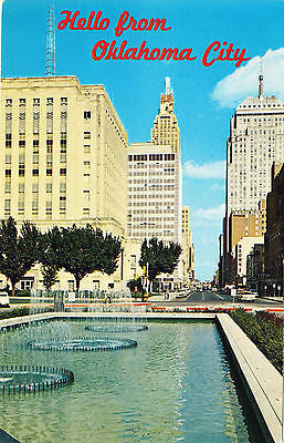 Hello From Oklahoma City Postcard - Cakcollectibles