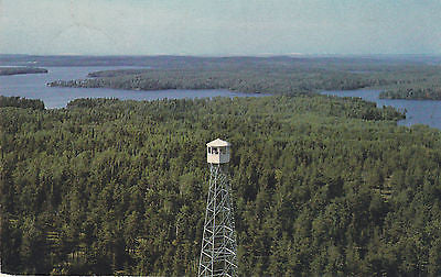"""Sentinel Of The Woods"" Firetowers Guard Canada's Forest Wealth Postcard - Cakcollectibles - 1"