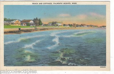 Beach and Cottages-Falmouth Heights,Massachusetts - Cakcollectibles