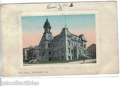 City Hall-Newport,Rhode Island 1909 - Cakcollectibles - 1