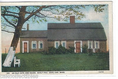 An Old Cape Cod House,Built 1752-Cape Cod,Massachusetts - Cakcollectibles