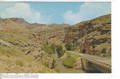 Entrance to Shell Canyon on U.S. Highway 14 in The Big Horn Mts.-Wyoming - Cakcollectibles