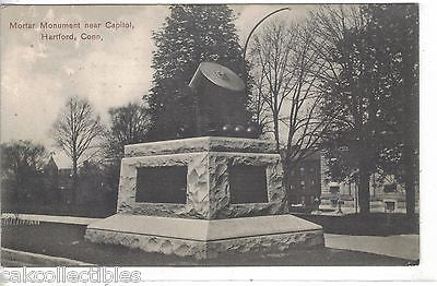 Mortar Monument near Capitol-Hartford,Connecticut 1908 - Cakcollectibles