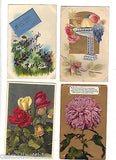 Lot of 4 Antique Greetings Post Cards-Lot 71 - Cakcollectibles - 1