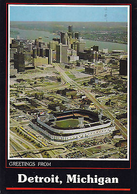"""Greetings From Detroit, Michigan"" Home Of The Tigers - Postcard - Cakcollectibles - 1"