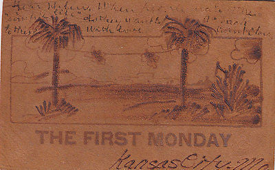 """The First Monday"" Leather Comic Postcard - Cakcollectibles - 1"