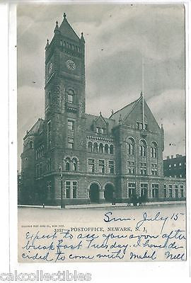 Postoffice-Newark,New Jersey 1906 - Cakcollectibles