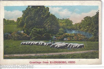 Greetings from Rainsboro,Ohio 1929 (Man with Sheep) - Cakcollectibles