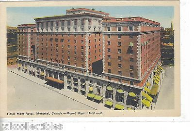 Mount Royal Hotel-Montreal,Canada - Cakcollectibles