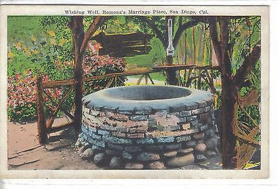 Wishing Well,Ramona's Marriage Place-San Diego,California - Cakcollectibles