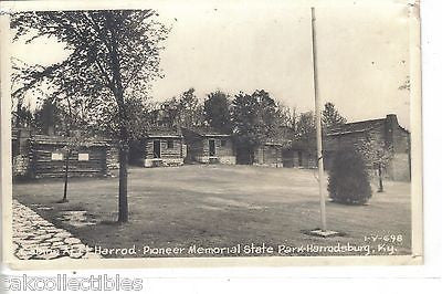 RPPC-Cabins at Ft. Harrod Pioneer Memorial State Park-Harrodsburg,Kentucky - Cakcollectibles - 1