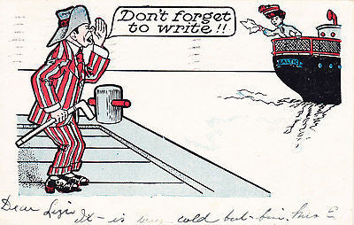 Don't Forget To Write Comic Postcard - Cakcollectibles