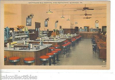 Interior-Greyhound Bus Terminal and Restaurant-Scranton,Pennsylvania - Cakcollectibles - 1