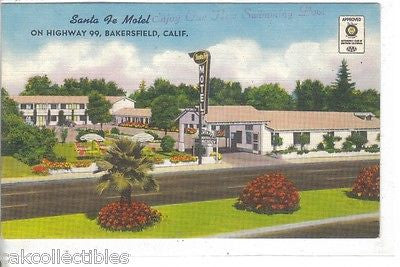 Santa Fe Motel-Bakersfield,California - Cakcollectibles
