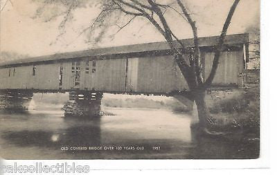 Early Post Card-Old Covered Bridge (Over 100 Years Old) - Cakcollectibles