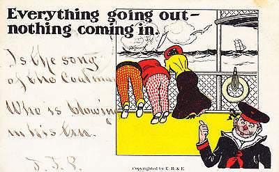 Everything Going Out, Nothing Coming In Comic Postcard - Cakcollectibles