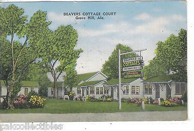 Deavers Cottage Court-Grove Hill,Alabama - Cakcollectibles