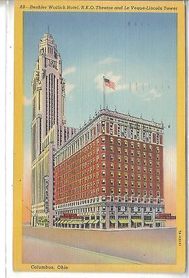 Deshler Wallick Hotel-Columbus,Ohio 1949 - Cakcollectibles