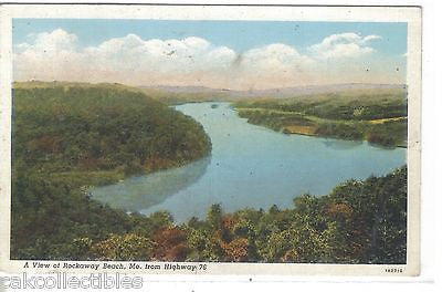 A View of Rockaway Beach,Missouri from Highway 76 - Cakcollectibles