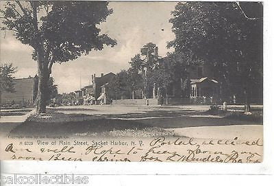 View on Main Street-Sacket Harbor,New York 1906 - Cakcollectibles - 1