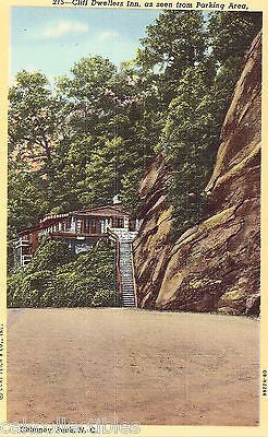Cliff Dwellers Inn,as Seen from Parking Area-Chimney Rock,North Carolina - Cakcollectibles