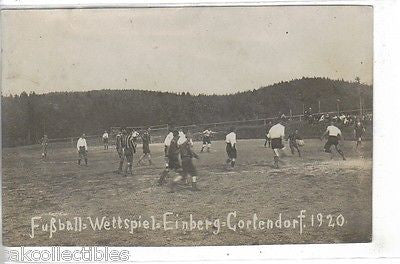 Futball-Wettspiel,Einberg Cortendorf 1920. Front of card 1920s postcards for sale, one of the most sought after postcards