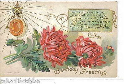 Birthday Greetings-The Topaz - Cakcollectibles - 1