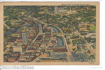 Aerial View of Battle Creek,Michigan - Cakcollectibles