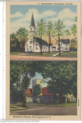 Immaculate onception and Episcopal Church-East Aurora,New York - Cakcollectibles