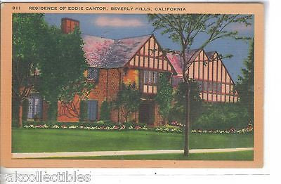 Residence of Eddie Cantor-Beverly Hills,California - Cakcollectibles