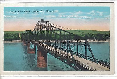 Missouri River Bridge-Jefferson City,Missouri - Cakcollectibles