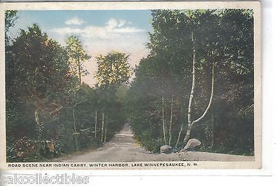Road Scene near Indian Carry,Winter Harbor-Lake Winnepesaukee,New Hampshire - Cakcollectibles