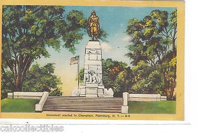 Monument Erected to Champlain-Plattsburg,New York - Cakcollectibles